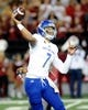 Sep 8, 2018; Pullman, WA, USA; San Jose State Spartans quarterback Montel Aaron (7) drops back to throw the football against the Washington State Cougars during the first half at Martin Stadium. Mandatory Credit: James Snook-USA TODAY Sports
