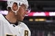 Sep 18, 2018; Denver, CO, USA; Vegas Golden Knights center Paul Stastny (26) warms up before the start of a preseason game against the Colorado Avalanche at the Pepsi Center. Mandatory Credit: Ron Chenoy-USA TODAY Sports