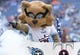 Sep 16, 2018; Nashville, TN, USA; Tennessee Titans mascot T-Rac before the game against the Houston Texans at Nissan Stadium. Mandatory Credit: Christopher Hanewinckel-USA TODAY Sports