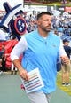 Sep 16, 2018; Nashville, TN, USA; Tennessee Titans head coach Mike Vrabel takes the field before the game against the Houston Texans at Nissan Stadium. Mandatory Credit: Christopher Hanewinckel-USA TODAY Sports