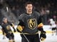 Sep 16, 2018; Las Vegas, NV, USA; Vegas Golden Knights defenseman Colin Miller (6) is pictured during warm ups before a pre-season game against the Arizona Coyotes at T-Mobile Arena. Mandatory Credit: Stephen R. Sylvanie-USA TODAY Sports