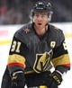 Sep 16, 2018; Las Vegas, NV, USA; Vegas Golden Knights center Jonathan Marchessault (81) warms up before a pre-season game against the Arizona Coyotes at T-Mobile Arena. Mandatory Credit: Stephen R. Sylvanie-USA TODAY Sports