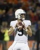 Sep 21, 2018; Champaign, IL, USA; Penn State Nittany Lions quarterback Trace McSorley (9) drops back to pass during the first quarter against the Illinois Fighting Illini at Memorial Stadium. Mandatory Credit: Mike Granse-USA TODAY Sports
