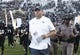 Sep 21, 2018; Orlando, FL, USA; UCF Knights head coach John Heupel takes the field before a game against the Florida Atlantic Owls at Spectrum Stadium. Mandatory Credit: Reinhold Matay-USA TODAY Sports