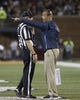 Sep 21, 2018; Champaign, IL, USA; Penn State Nittany Lions head coach James Franklin talks with an official during the second quarter against the Illinois Fighting Illini at Memorial Stadium. Mandatory Credit: Mike Granse-USA TODAY Sports