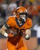 Sep 21, 2018; Champaign, IL, USA; Illinois Fighting Illini running back Mike Epstein (26) carries the ball against the Penn State Nittany Lions during the second quarter at Memorial Stadium. Mandatory Credit: Mike Granse-USA TODAY Sports