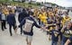 Sep 22, 2018; Morgantown, WV, USA; West Virginia Mountaineers quarterback Will Grier (7) greets fans as he arrives to the stadium to play Kansas State Wildcats at Mountaineer Field at Milan Puskar Stadium. Mandatory Credit: Ben Queen-USA TODAY Sports