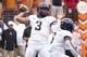 Sep 22, 2018; Austin, TX, USA; Texas Christian Horned Frogs quarterback Shawn Robinson (3) passes during the first quarter against Texas at Darrell K Royal-Texas Memorial Stadium. Mandatory Credit: Bethany Hocker-USA TODAY Sports