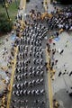 Sep 22, 2018; Hattiesburg, MS, USA; The Southern Miss marching band marches in a pre-game parade before the game between the Southern Miss Golden Eagles and the Rice Owls at M. M. Roberts Stadium. Mandatory Credit: Chuck Cook-USA TODAY Sports