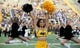 Sep 22, 2018; Hattiesburg, MS, USA; A Southern Miss Golden Eagles cheerleader before their game against the Rice Owls at M. M. Roberts Stadium. Mandatory Credit: Chuck Cook-USA TODAY Sports