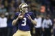 Sep 22, 2018; Seattle, WA, USA; Washington Huskies quarterback Jake Browning (3) drops back to pass against the Arizona State Sun Devils during the first quarter at Husky Stadium. Mandatory Credit: Jennifer Buchanan-USA TODAY Sports