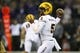 Sep 22, 2018; Seattle, WA, USA; Arizona State Sun Devils quarterback Manny Wilkins (5) passes against the Washington Huskies during the first quarter at Husky Stadium. Mandatory Credit: Jennifer Buchanan-USA TODAY Sports
