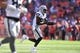 Sep 16, 2018; Denver, CO, USA; Oakland Raiders tight end Jared Cook (87) runs after a reception in the second quarter against the Denver Broncos at Broncos Stadium at Mile High. Mandatory Credit: Ron Chenoy-USA TODAY Sports