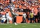 Sep 16, 2018; Denver, CO, USA; Oakland Raiders punter Johnny Townsend (5) punts a ball in the first quarter against the Denver Broncos at Broncos Stadium at Mile High. Mandatory Credit: Ron Chenoy-USA TODAY Sports