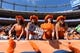 Sep 16, 2018; Denver, CO, USA; Denver Broncos fans cheer during the first quarter against the Oakland Raiders at Broncos Stadium at Mile High. Mandatory Credit: Ron Chenoy-USA TODAY Sports