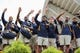 Sep 22, 2018; Morgantown, WV, USA; West Virginia Mountaineers players wave to kids at the WVU Medicine Children's Hospital before their game against the Kansas State Wildcats at Mountaineer Field at Milan Puskar Stadium. Mandatory Credit: Ben Queen-USA TODAY Sports