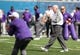 Sep 22, 2018; Morgantown, WV, USA; Kansas State Wildcats head coach Bill Snyder walks through players during warmups before their game against the West Virginia Mountaineers at Mountaineer Field at Milan Puskar Stadium. Mandatory Credit: Ben Queen-USA TODAY Sports