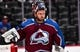 Sep 26, 2018; Denver, CO, USA; Colorado Avalanche goaltender Semyon Varlamov (1) looks on during the first period of the first period against the Dallas Stars at Pepsi Center. Mandatory Credit: Ron Chenoy-USA TODAY Sports