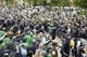Sep 29, 2018; South Bend, IN, USA; Notre Dame Fighting Irish players walk into Notre Dame Stadium before the against the Stanford Cardinal. Mandatory Credit: Matt Cashore-USA TODAY Sports