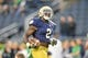 Sep 29, 2018; South Bend, IN, USA; Notre Dame Fighting Irish running back Dexter Williams (2) warms up before a game against the Stanford Cardinal at Notre Dame Stadium. Mandatory Credit: Matt Cashore-USA TODAY Sports