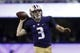 Sep 29, 2018; Seattle, WA, USA; Washington Huskies quarterback Jake Browning (3) throws out a pass against the Brigham Young Cougars during the second quarter at Husky Stadium. Mandatory Credit: Jennifer Buchanan-USA TODAY Sports