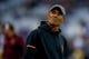 Sep 22, 2018; Seattle, WA, USA; Arizona State Sun Devils head coach Herm Edwards looks towards the stands before the start of a game against the Washington Huskies at Husky Stadium. Mandatory Credit: Jennifer Buchanan-USA TODAY Sports