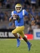 Oct 6, 2018; Pasadena, CA, USA; UCLA Bruins quarterback Wilton Speight (3) carries the ball in the third quarter against the Washington Huskies at Rose Bowl. Washington defeated UCLA 31-24. Mandatory Credit: Kirby Lee-USA TODAY Sports