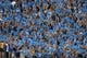 Oct 6, 2018; Pasadena, CA, USA; UCLA Bruins fans wave blue pom poms during the game against the Washington Huskies at Rose Bowl. Washington defeated UCLA 31-24. Mandatory Credit: Kirby Lee-USA TODAY Sports