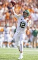 Oct 13, 2018; Austin, TX, USA; Baylor Bears quarterback Charlie Brewer (12) throws against the Texas Longhorns during the first quarter at Darrell K Royal-Texas Memorial Stadium. Mandatory Credit: John Gutierrez-USA TODAY Sports