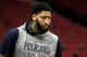 Oct 17, 2018; Houston, TX, USA; New Orleans Pelicans forward/center Anthony Davis (23) prior to the game against the Houston Rockets at Toyota Center. Mandatory Credit: Erik Williams-USA TODAY Sports