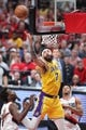 Oct 18, 2018; Portland, OR, USA;  Los Angeles Lakers center JaVale McGee (7) goes up for a tip-in over Portland Trail Blazers in the first half at Moda Center. Mandatory Credit: Jaime Valdez-USA TODAY Sports