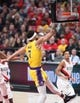 Oct 18, 2018; Portland, OR, USA; Los Angeles Lakers center JaVale McGee (7) dunks over the Portland Trail Blazers in the first half at Moda Center. Mandatory Credit: Jaime Valdez-USA TODAY Sports