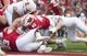 Oct 20, 2018; Madison, WI, USA; Wisconsin Badgers fullback Alec Ingold (45) rushes for a touchdown during the first quarter against the Illinois Fighting Illini at Camp Randall Stadium. Mandatory Credit: Jeff Hanisch-USA TODAY Sports