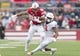 Oct 20, 2018; Madison, WI, USA; Wisconsin Badgers running back Taiwan Deal (28) rushes with the football during the first quarter against the Illinois Fighting Illini at Camp Randall Stadium. Mandatory Credit: Jeff Hanisch-USA TODAY Sports
