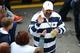 Oct 13, 2018; University Park, PA, USA; Penn State Nittany Lions former player Franco Harris greets fans prior to the game against the Michigan State Spartans at Beaver Stadium. Mandatory Credit: Rich Barnes-USA TODAY Sports