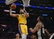 October 22, 2018; Los Angeles, CA, USA; Los Angeles Lakers center JaVale McGee (7) moves to the basket against the San Antonio Spurs during the first half at Staples Center. Mandatory Credit: Gary A. Vasquez-USA TODAY Sports