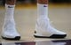 October 22, 2018; Los Angeles, CA, USA; The shoes of Los Angeles Lakers forward Kyle Kuzma (0) pictured at Staples Center. Mandatory Credit: Gary A. Vasquez-USA TODAY Sports