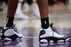 October 22, 2018; Los Angeles, CA, USA; The shoes of San Antonio Spurs forward LaMarcus Aldridge (12) pictured at Staples Center. Mandatory Credit: Gary A. Vasquez-USA TODAY Sports
