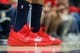 Oct 26, 2018; New Orleans, LA, USA; A detail of shoes worn by New Orleans Pelicans forward Anthony Davis (23) during warmups before the game against the Brooklyn Nets at Smoothie King Center. Mandatory Credit: Stephen Lew-USA TODAY Sports