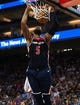 Oct 26, 2018; Sacramento, CA, USA; Washington Wizards forward Markieff Morris (5) dunks the ball against the Sacramento Kings during the second quarter at Golden 1 Center. Mandatory Credit: Kelley L Cox-USA TODAY Sports