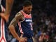 Oct 26, 2018; Sacramento, CA, USA; Washington Wizards guard Bradley Beal (3) prepares to take a free throw after being fouled by the Sacramento Kings during the second quarter at Golden 1 Center. Mandatory Credit: Kelley L Cox-USA TODAY Sports