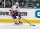 Oct 20, 2018; San Jose, CA, USA; New York Islanders center Valtteri Filppula (51) controls the puck against the San Jose Sharks during the first period at SAP Center at San Jose. Mandatory Credit: Neville E. Guard-USA TODAY Sports