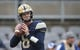 Oct 27, 2018; Pittsburgh, PA, USA;  Pittsburgh Panthers quarterback Kenny Pickett (8) warms up before playing the Duke Blue Devils at Heinz Field. Mandatory Credit: Charles LeClaire-USA TODAY Sports