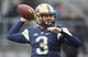 Oct 27, 2018; Pittsburgh, PA, USA;  Pittsburgh Panthers quarterback Jeff George (3) warms up before playing the Duke Blue Devils at Heinz Field. Mandatory Credit: Charles LeClaire-USA TODAY Sports