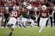Oct 27, 2018; Stanford, CA, USA; Stanford Cardinal linebacker Bobby Okereke (20) tackles Washington State Cougars wide receiver Dezmon Patmon (12) during the third quarter at Stanford Stadium. Mandatory Credit: Stan Szeto-USA TODAY Sports