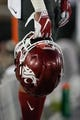 Oct 27, 2018; Stanford, CA, USA; General view of the Washington State Cougars helmet in the game against the Stanford Cardinal during the third quarter at Stanford Stadium. Mandatory Credit: Stan Szeto-USA TODAY Sports