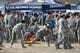 Oct 27, 2018; Colorado Springs, CO, USA; Air Force Cadets tailgate before the game against the Boise State Broncos at Falcon Stadium. Mandatory Credit: Isaiah J. Downing-USA TODAY Sports