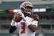 Oct 28, 2018; Cincinnati, OH, USA; Tampa Bay Buccaneers quarterback Jameis Winston (3) throws a pass during warmups prior to the game against the Cincinnati Bengals at Paul Brown Stadium. Mandatory Credit: Aaron Doster-USA TODAY Sports