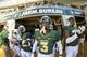 Nov 3, 2018; Waco, TX, USA; Baylor Bears safety Chris Miller (3) prepares to lead his team on to the field to face the Oklahoma State Cowboys at McLane Stadium. Mandatory Credit: Jerome Miron-USA TODAY Sports