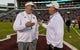 Nov 3, 2018; Starkville, MS, USA; Mississippi State Bulldogs head coach Joe Moorhead talks with Louisiana Tech Bulldogs head coach Skip Holtz in warmups before the game at Davis Wade Stadium. Mandatory Credit: Vasha Hunt-USA TODAY Sports
